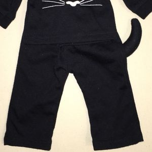 "Chasing Fireflies Other - Girls 18"" Black Cat Pajamas Doll Outfit"